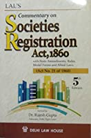 Commentary on Societies Registration Act,1860