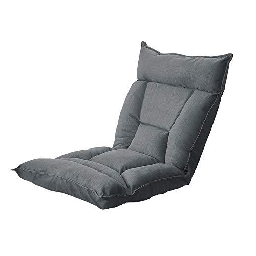 YMBKFan Lazy Floor Stuhl Einstellbar Rückenlehne Bodenstühle Falten Lazy Recliner Meditationsstuhl Für Wohnzimmer Schlafzimmer Waschbar Lazy Sofa-Dunkelgrau 115x12x58cm(45x5x23inch)