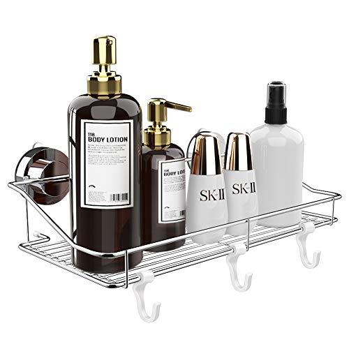 最新 浴室用ラック 強力 吸盤 お風呂の壁に ステンレス シャワーラック 一年保証付き TOPOOMY