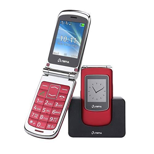 OLYMPIA Style View Senioren Mobiltelefon große Tasten & Farbdisplay Rot