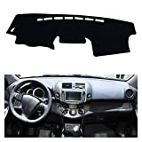 Wjyfexble Accessoires de voiture Dashmat Tableau de bord Couvercle Tapis Trak Sun Shade Protect Tapis pour Toyota Rav4 XA30 2006-2012 hnwyj (Color Name : Black(Black Edge))