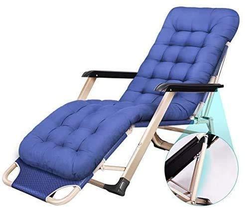 DAGCOT Sillas reclinables sillas Plegables al Aire Libre Tumbona de jardín Sillas reclinables Patio Azul Más