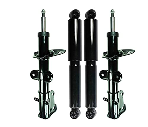 PM Auto PM6000323&PM6000323&PM6001185&PM6001185 Front-Rear Suspension Shock Strut For 2008-2010 Chrysler Town & Country Van w/o Sport Suspension and w/o Load Leveling