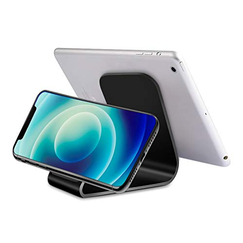 InzhiRui Fabulous Micro Suction Cell Phone Desk Holder Mobile Phone Dock Display Stand for ONEPLUS, Samsung Galaxy, Up to 10 inch Tablet (Black)