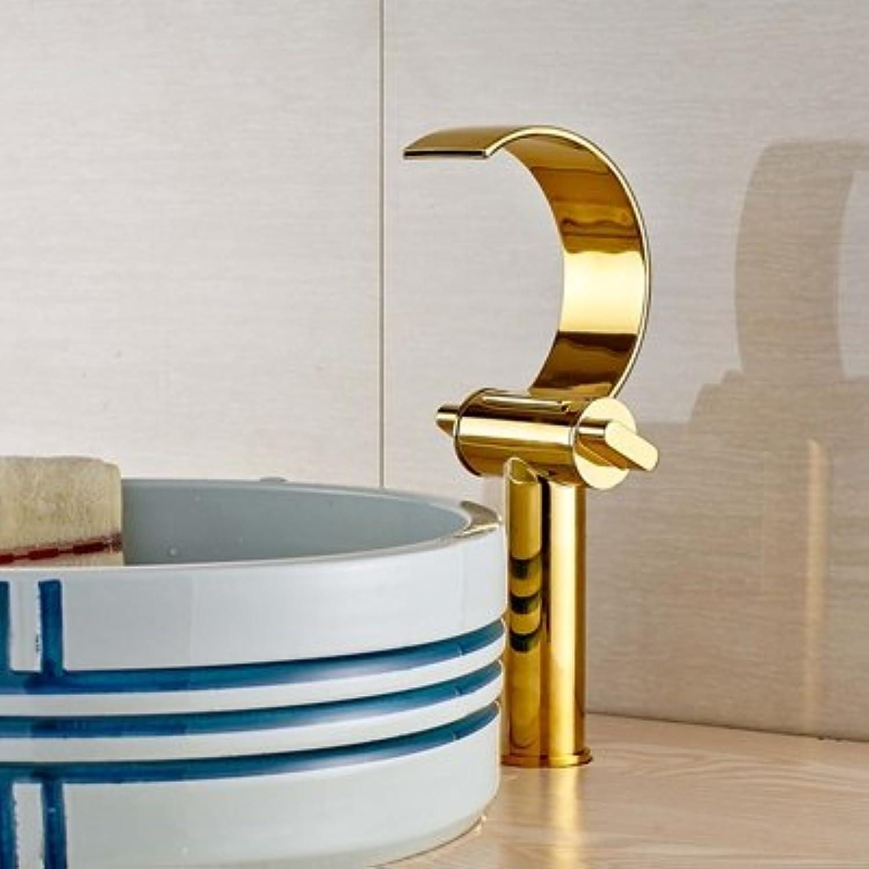 Retro Deluxe Fauceting neu Deck montiert Golden massiv Messing Waschbecken Waschbecken Wasserhahn Mixer Single Handle Faucet, tippen Sie auf  Lschen