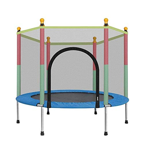 wilverz Mini Trampoline for Kids, Trampolines with Padded, Jumpking Trampoline Pad Enclosure Net, Mini Trampolines for Kids-Max Weigh 330 lbs (Blue)
