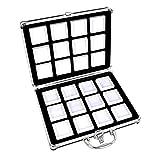 HMHMVM Caja de aleación de Aluminio - Bandeja de inserción de Espuma para Tarro de Gemas Organizador de exhibición de Joyas Caja de Almacenamiento de Cuentas de Piedras Preciosas