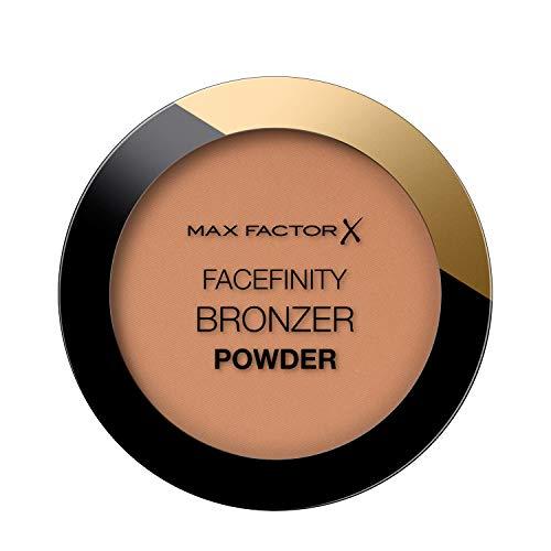 Max Factor Facefinity Bronzer Powder, Terra Abbronzante dal Finish Satinato a Lunga Durata, 001 Light Medium