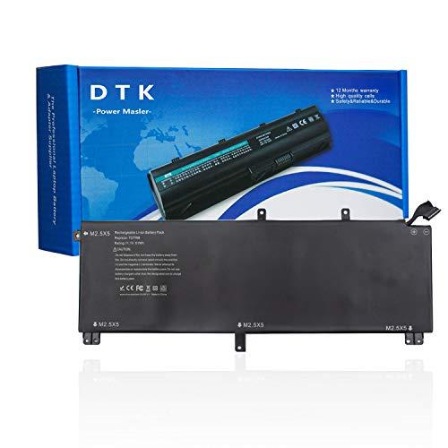 DTK Laptop Akku für Dell XPS 15 9530 XPS 15 9535 XPS15D-7728T 9530 Ersatz für M3800 07D1WJ 0H76MY 245RR 7D1WJ H76MV T0TRM Y758W (5200mAh 11.1V 61Wh)