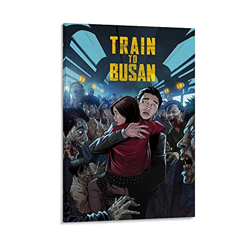 "Filmposter ""Train To Busan"", Horror-Action-Mystery-Film, 2 Leinwand-Kunst, Kunstdruck, Dekoration, Poster, 50 x 75 cm"