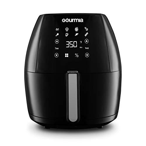Gourmia GAF625 Digital Free Fry Air Fryer- No Oil Healthy Frying - LCD Display - 8 Presets - 1700 Watt - 6 Qt Basket Pan - Recipe Book Included