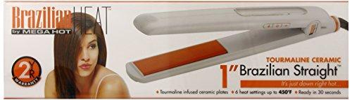 Brazilian Heat BBH3001 Brazilian Heat Tourmaline Ceramic Flat Iron, 1 Inch
