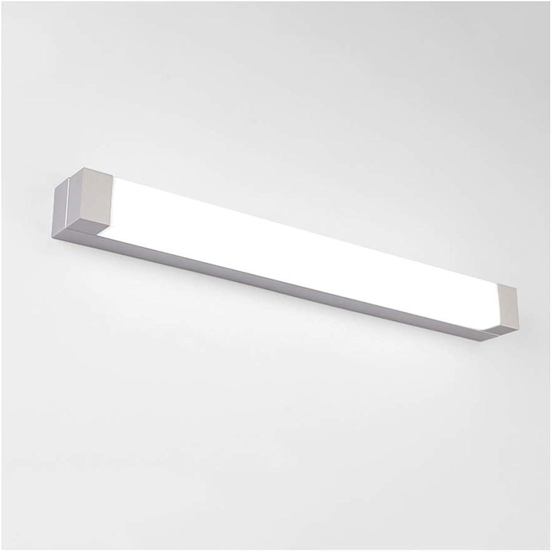 BAIF Spiegelleuchte Badezimmerspiegelleuchten LED-Badezimmerwandleuchte Schminktisch Spiegelleuchte Wasserdicht Anti-Beschlag Einfacher Stil [Energieklasse A +] (Farbe  WeißLight, Gre  52cm)