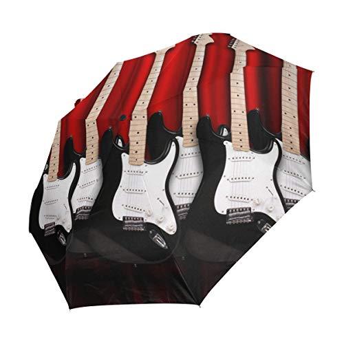Ahomy - Paraguas de Viaje Compacto para Guitarras eléctricas en la habitación,...