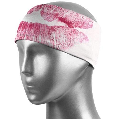Verctor Bande de Cheveux pour Femmes Love Hot Love Kiss Lèvres Heiss Feelings Cheveux Bandes élastiques Unisexe Anti-humidité