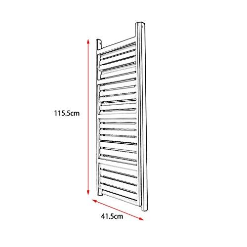 4 Tiers Ladder Shelf, Wooden Bookcase Ladder Shelf Plant Display Ladder Book Shelves Free Standing Storage Ladder for Bathroom Living Room (White)