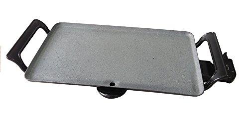 Plancha asar revestimiento piedra 2000W grill electrica antideslizante 46x26cm