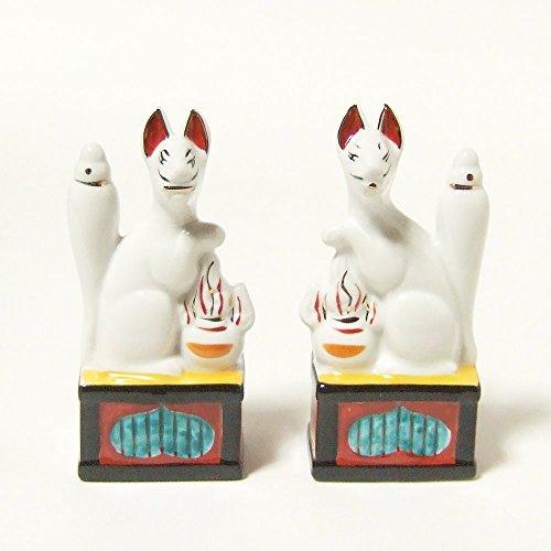 Moa Feteli(モアフェティ) 神棚 神具用■お稲荷(狐) お狐様 ■一対■サイズ 中 4寸 高さ 12.5cm