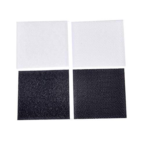 NUOBESTY - Cinta de Velcro para Alfombra, Antideslizante, con Parche Adhesivo, Cierre de Tela, Antideslizante, Desmontable, Cinta de Velcro para Suelo y Dormitorio, 12 Unidades de 6 × 6 cm