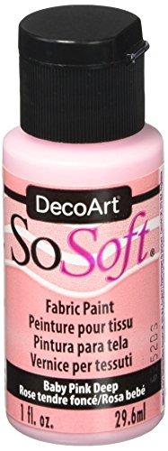 DecoArt SoSoft Fabric Acrylics Paint, 1-Ounce, Baby Pink Deep
