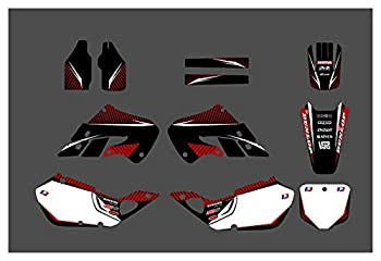 bazutiwns DST0518 Customized 3M Motorcycle Decals Stickers Graphics Graphic Decal Kit Compatible with Honda CR125 1998-1999 CR250 1997-1999