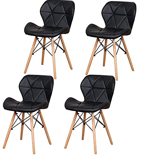 Sillas De Cocina Pack 4 Blancas sillas de cocina pack 4  Marca GrandCA HOME
