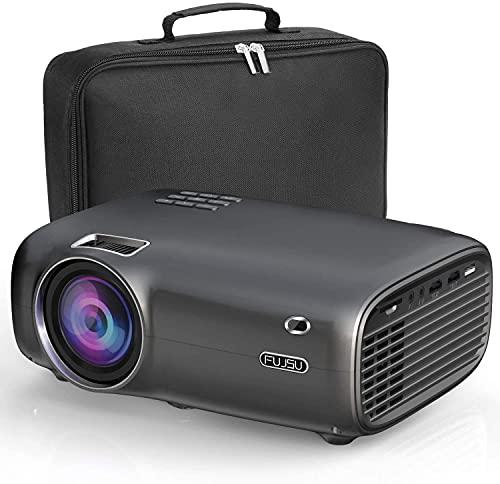 Mini proyector, 4500 lúmenes, cine en casa, compatible con Full HD 1080p, 50.000 horas, proyector LCD compatible con HDMI/USB/SD/AV/VGA