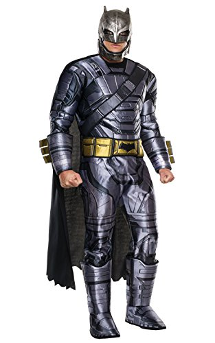 Rubie's Official - Costumi per Adulti - Deluxe Armoured Batman Mens Fancy Dress Dawn of Justice Superhero