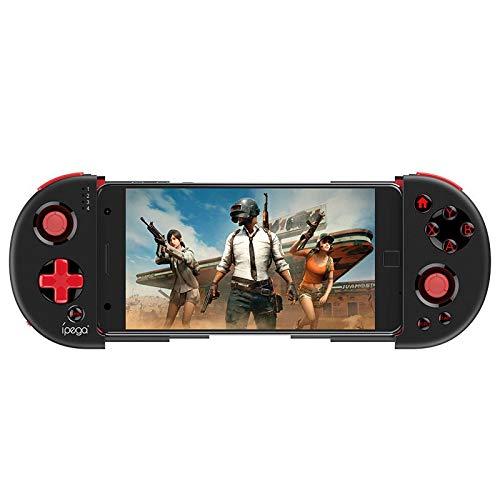 WOHCO Controlador de Juegos inalámbrico, Joystick Extensible con Controlador de Juegos Bluetooth con Cable de Carga, para Tableta iOS, Caja de TV Android