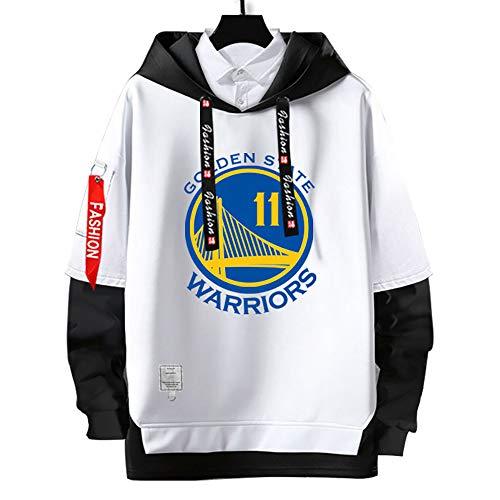 Sudaderas con Capucha de klay thompson #11,#goldenState # warriors Pullover Uniforme de Baloncesto Fans Camisetas de Entrenamiento,Moda Casual, sin Deformación,para Hombre y Mujer,White-S