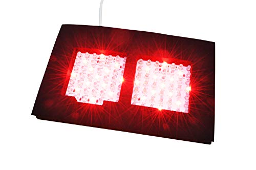 Infrared LED Therapy Dual Light NIR Infrared and Red Light Output Therapy Pad by InfraRelief Deep Penetration for Pain Relief, Safe Easy Effective Aids Healing, Circulation, Chronic Pain, Neuropathy!