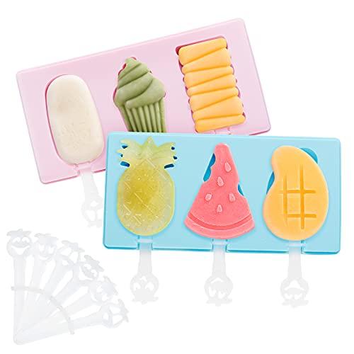 Moldes para Helados Ninonly 2pcs Moldes para Paletas de Hielo de Silicona, Reutilizable DIY Popsicle Mold para Hornear de Silicona Postre Pastel de Chocolate Antiadherente
