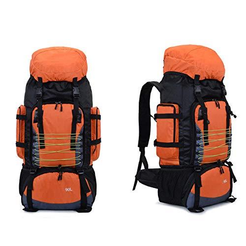 90L Travel Bag Camping Backpack Hiking Army Climbing Bags Trekking Mountaineering Mochila Large Capacity Sport Rucksack-90L Orange