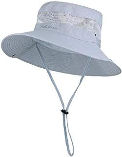 CRUOXIBB Outdoor Sun Protection Fishing Hat Wide Brim Breathable Bucket Safari Boonie Cap for Men and Women