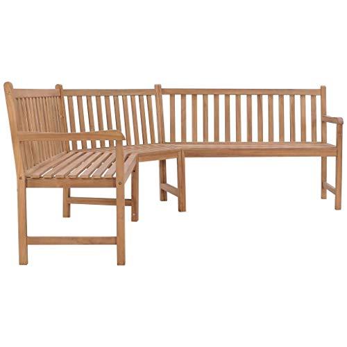 YiYueTrade Garten-Eckbank 202×202×90 cm Massivholz Teak