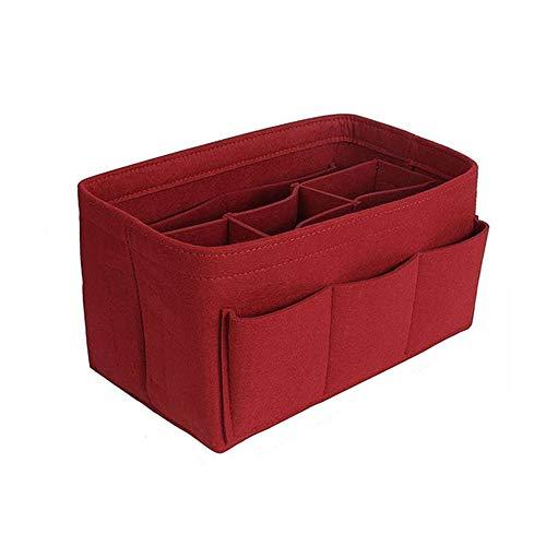 XXKA Cosmetic Bag Makeup Storage Bag Felt Insert Bag Handbag Travel Interior Wallet Portable Cosmetic Bag Fit 34X18X17CM b2
