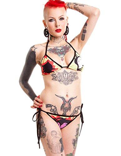 Cupcake Cult Damen Neckholder Bikini Set - Chu Chu S