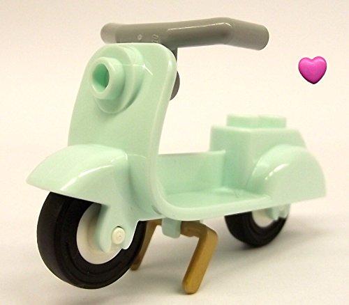 LEGO® Roller / Scooter in Hellaqua / Türkis für Minifiguren und LEGO® Herz