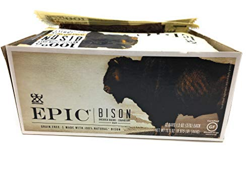 EPIC PROVISIONS Bacon Cranberry Bison Bar 12 Count, 1.3 OZ