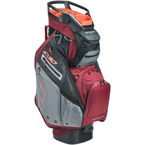 Product Image 8: Sun Mountain C-130 Cart Bag Golf Black/Garnet/Gunmetal/Inferno 2020 New