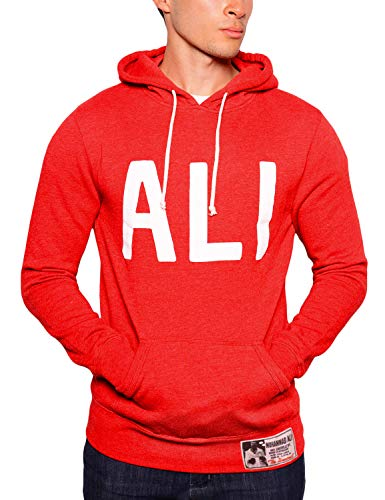 Roots of Fight Officially Licensed Men's Muhammad Ali 'ALI' Pullover Hoody Sweatshirt, Size Medium