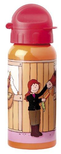 sigikid, Mädchen, Trinkflasche mit Drehverschluss 0,4 l, Pony Sue, Orange/Rot, 24489