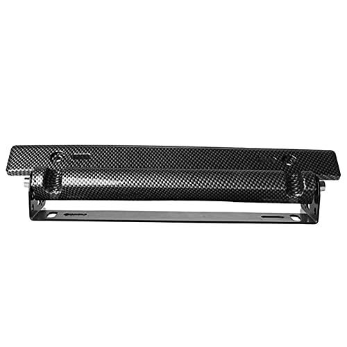 GJCrafts License Plate Holder, Universal Number Registration Plate Frame Bracket, Easy Mounting Adjustable ABS Bumper Frame Carbon Fiber Pattern Exterior