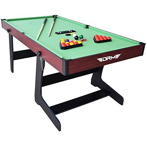 ALPIKA 6FT Folding Snooker Table Pool Table Set Steady Space Saving...