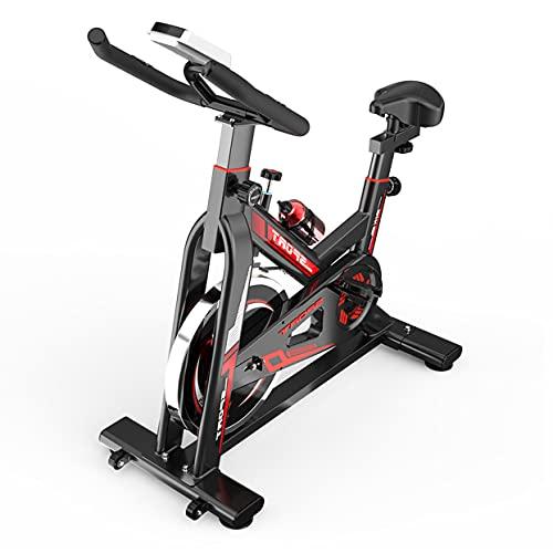 GJXJY Bicicletas Estáticas y de Spinning para Fitness, Bicicleta Estática Interior con Monitor LCD, Asiento Ajustable y Manillares Bicicleta, Bicicleta Estatica para hogar Entrenamiento Cardio