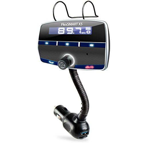 GOgroove FlexSMART X5 Bluetooth FM Transmitter Car Kit with Hands-Free Calling , Music Playback , USB Charging and Multiple Mounting Options - Works with Apple , Samsung , ASUS and More!