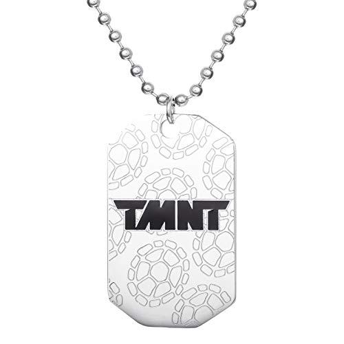 "Nickelodeon Teenage Mutant Ninja Turtles' Jewelry, Stainless Steel TMNT Logo Dog Tag Bead Necklace, 18"" chain"