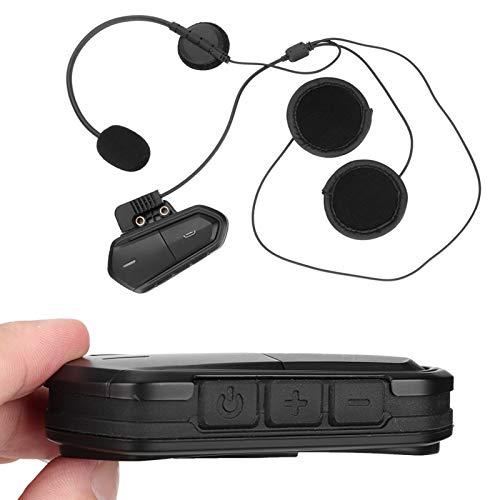 PUSOKEI Auriculares Bluetooth para Motocicleta Auriculares estéreo inalámbricos para Casco con micrófono Sistema de comunicación por intercomunicador para Motocicleta para Montar/Esquiar/Acampar
