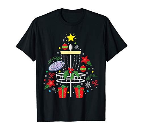 Disc Golf Frisbee Christmas Ornament Tree Funny Gift Men T-Shirt