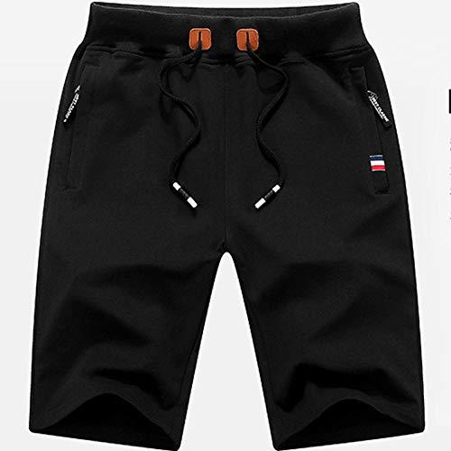 XBTECH Short de Sport Hommes,Short Homme Sport Jogging et d'entraînement Fitness Pantalon Court Jogging Pantalon Bermuda Pochette de Rangement pour Fermeture Éclair